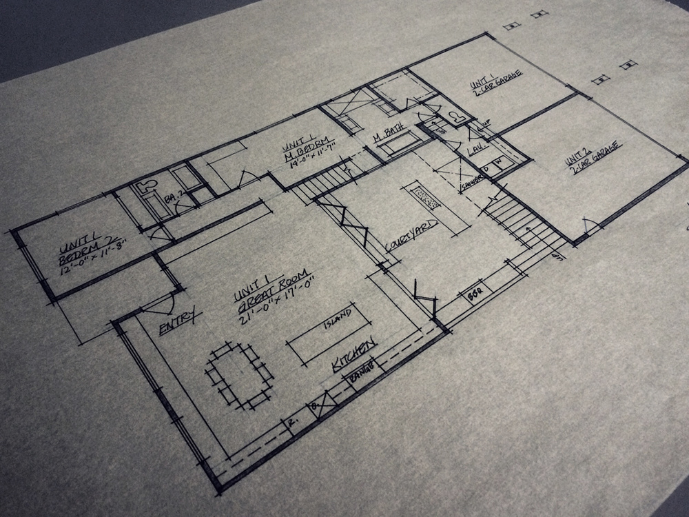 schematic floor plan // level 1