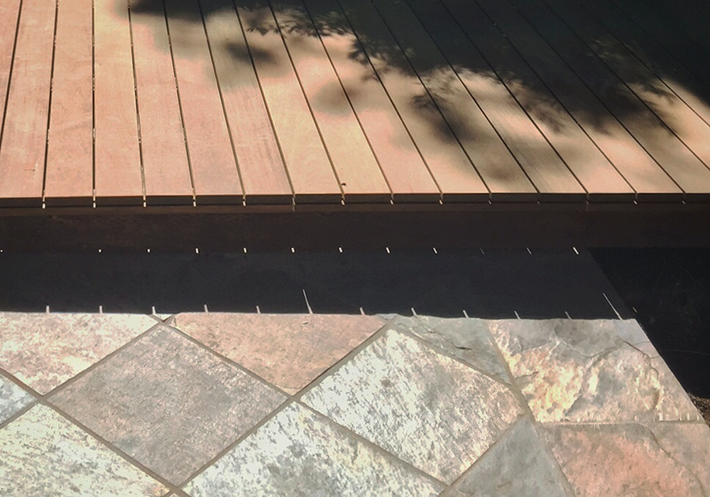 modular ipe decking // construction