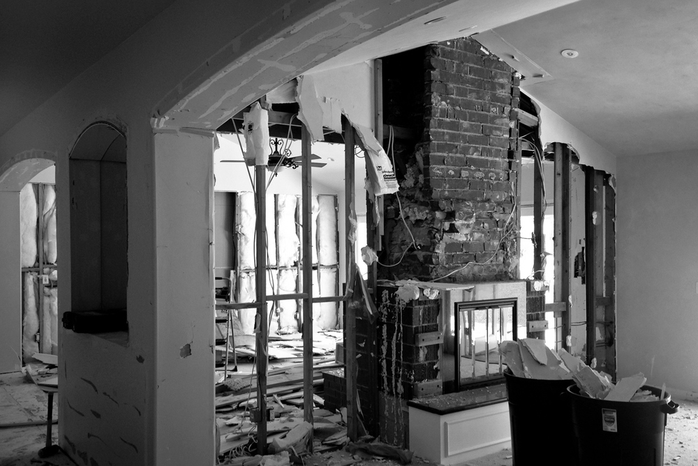 living room // DEMOLITION