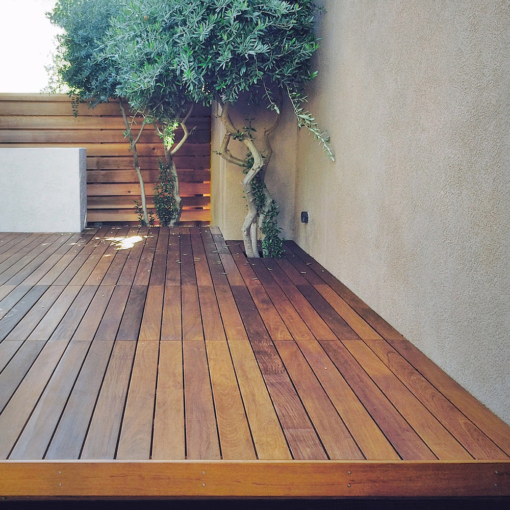 from the site: structural ope decking + clear cedar siding