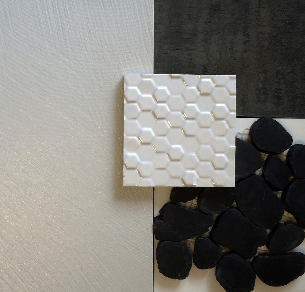 modern material palette / b+w