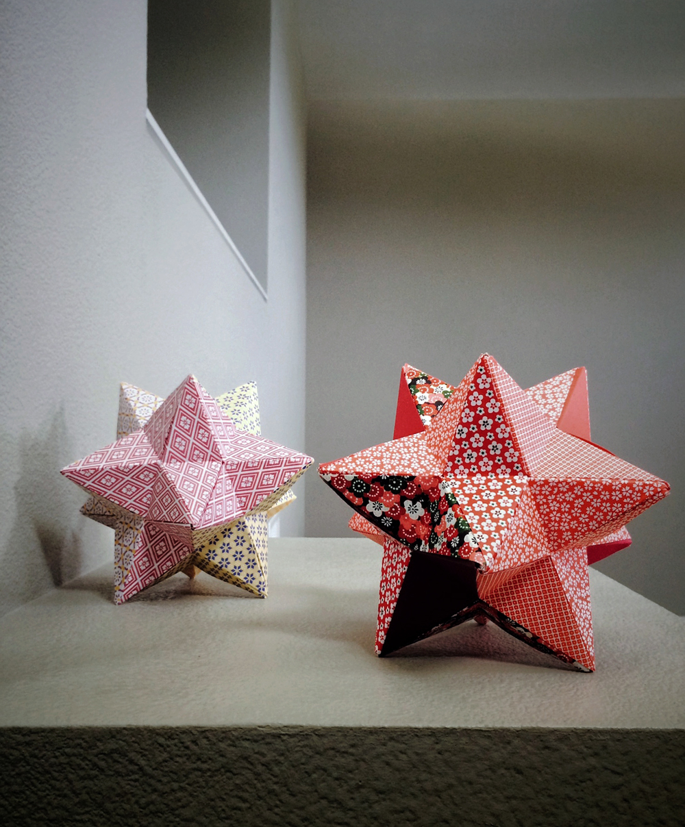 MYD studio origami // lesser stellated dodecahedrons