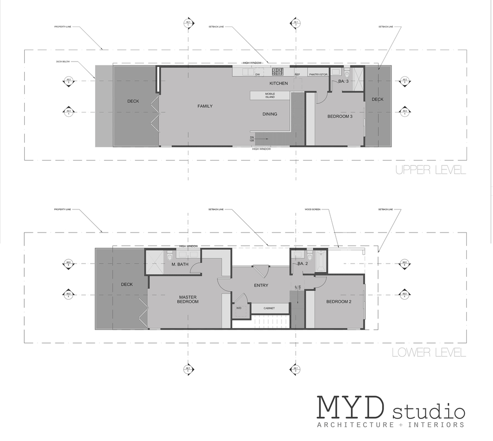 archi beach heights narrow lot floor plan / myd studio