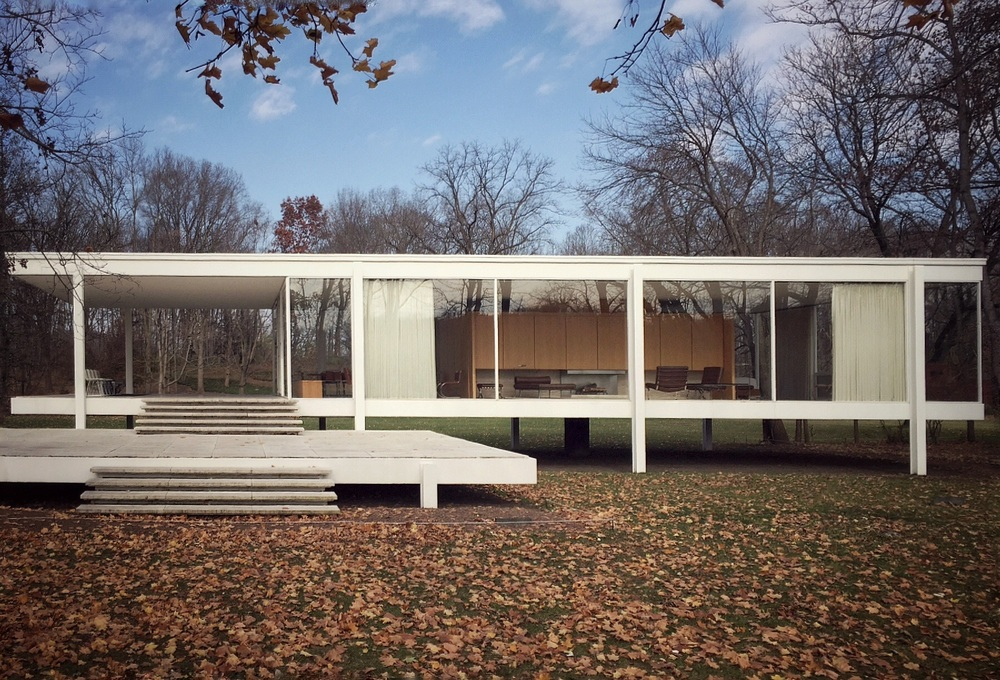 [at the farnsworth house by mies van der rohe, november 2015]