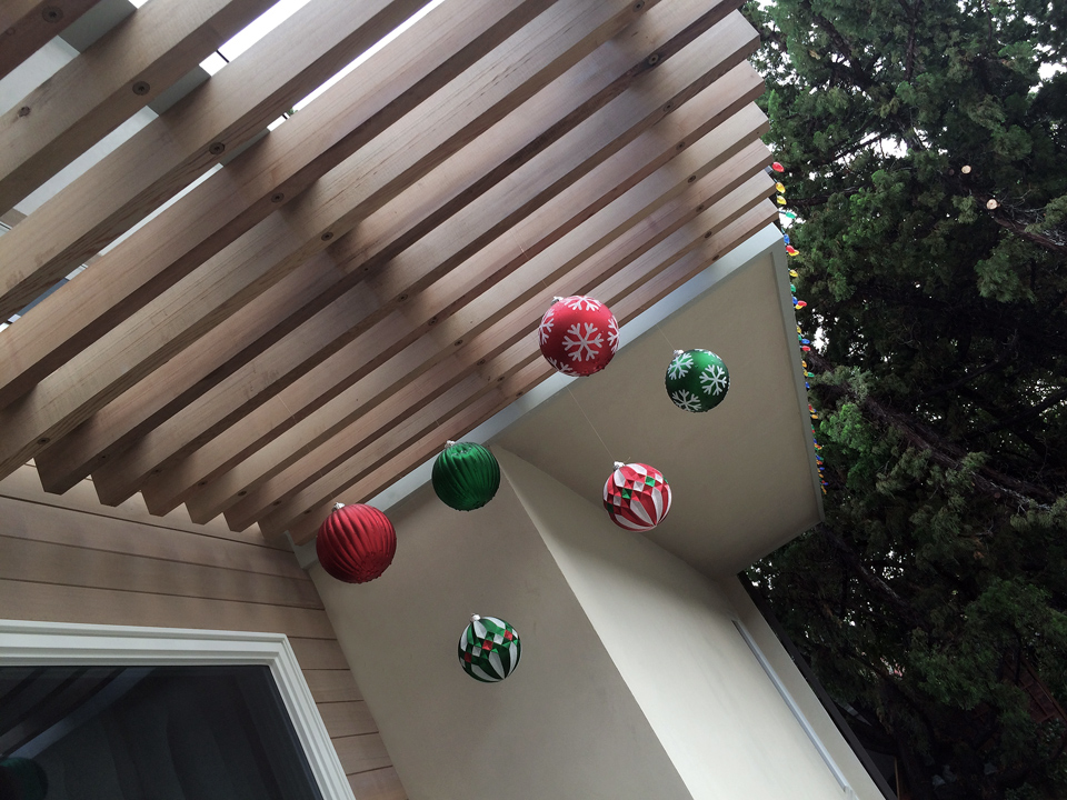 outdoor ornaments at  cedar trellis