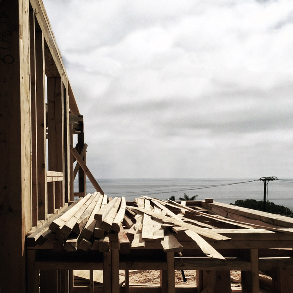 fern street framing progress, laguna beach