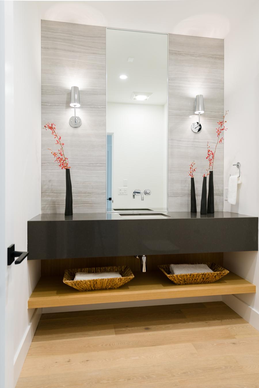 floating vanity / powder room