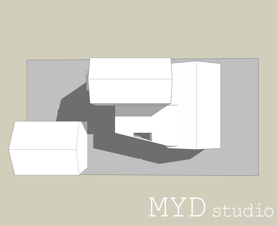 shaded site massing study