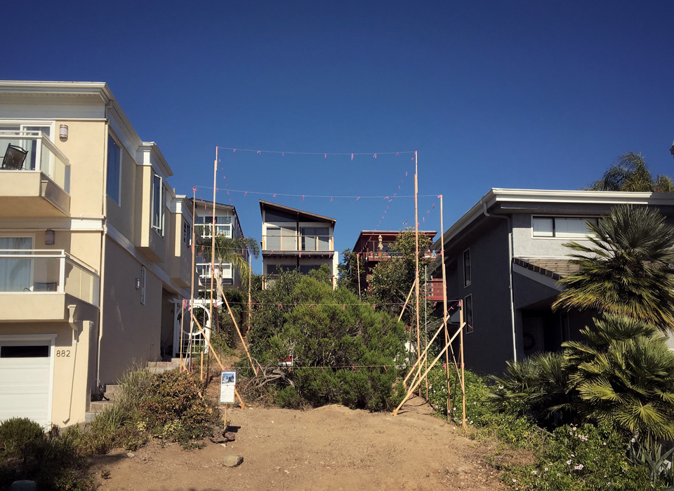 site staking / arch beach heights