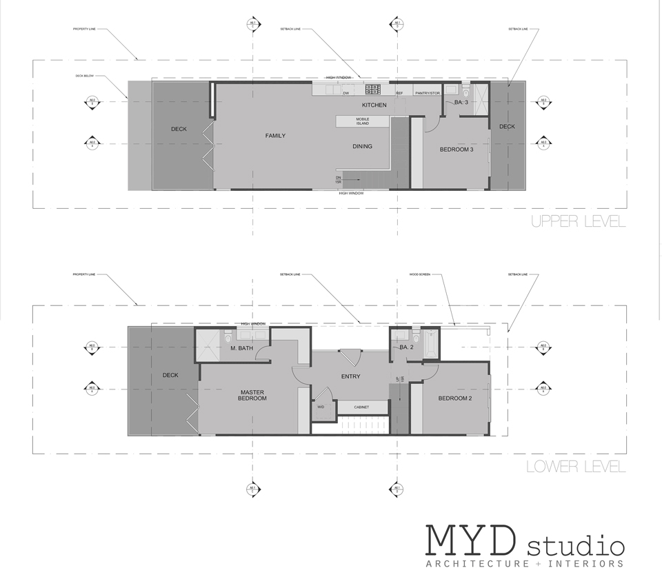main / upper floor plans