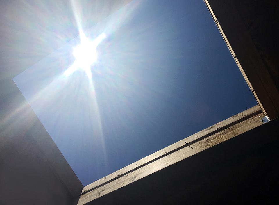north laguna construction / framing at kitchen skylight