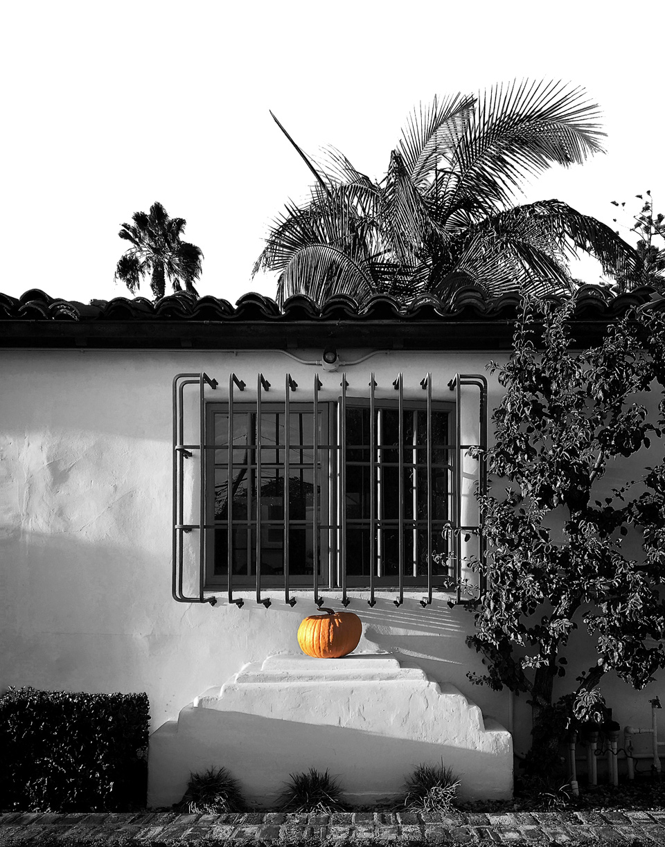 spanish architecture + fall pumpkin