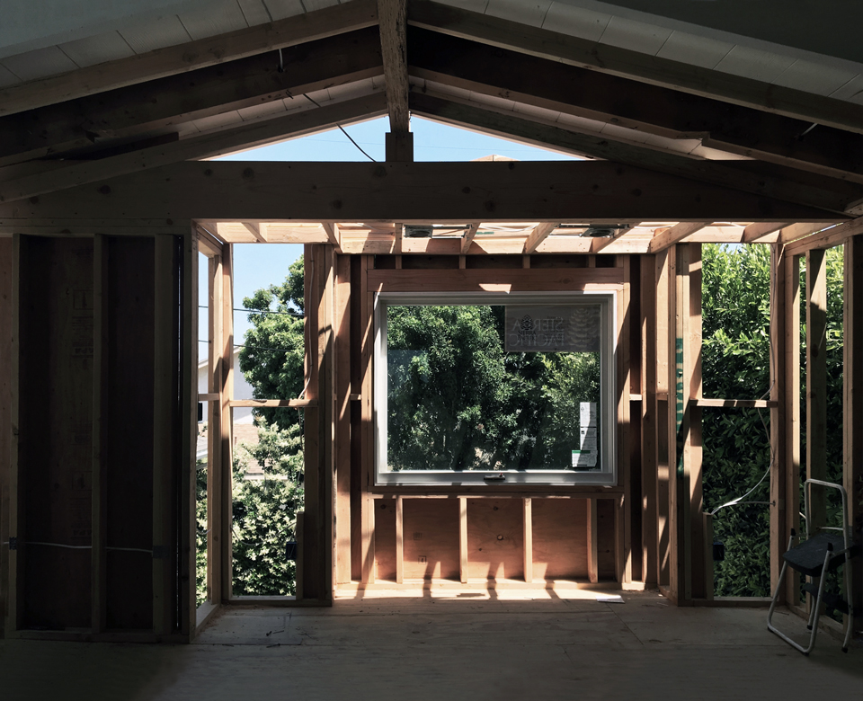 framed landscape views / awning window at master bedroom