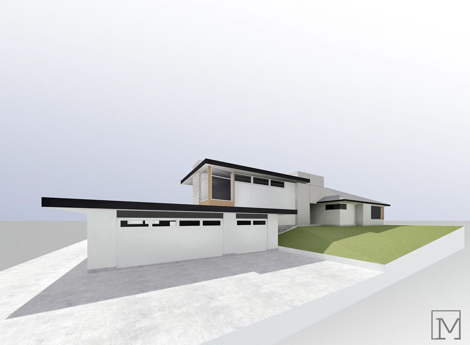 exterior design rendering / fullerton residence