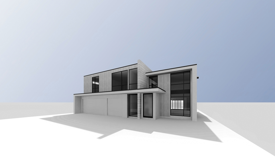 huntington beach modern / exterior rendering