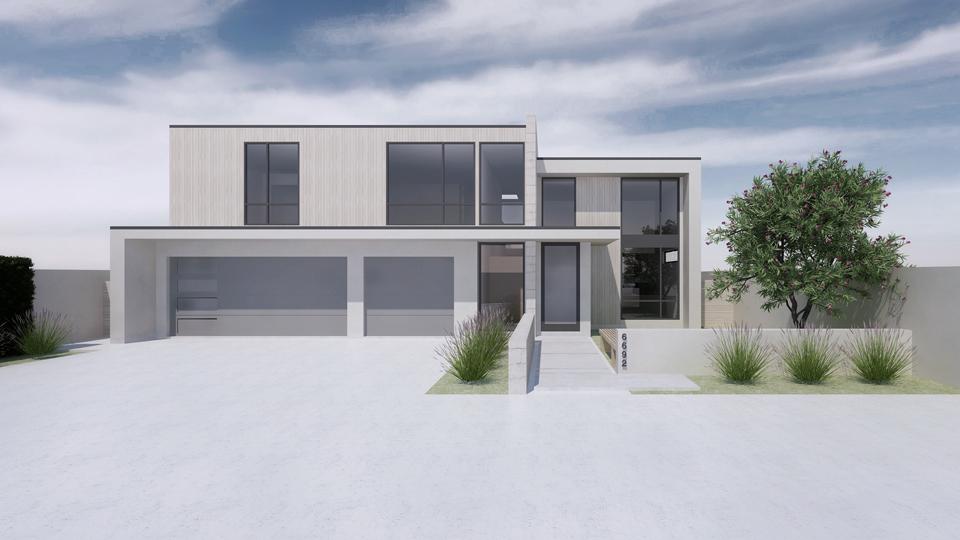 front elevation / design rendering