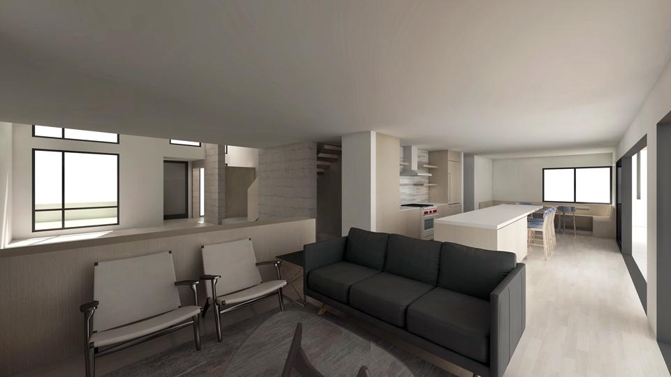 open floor plan at interior living