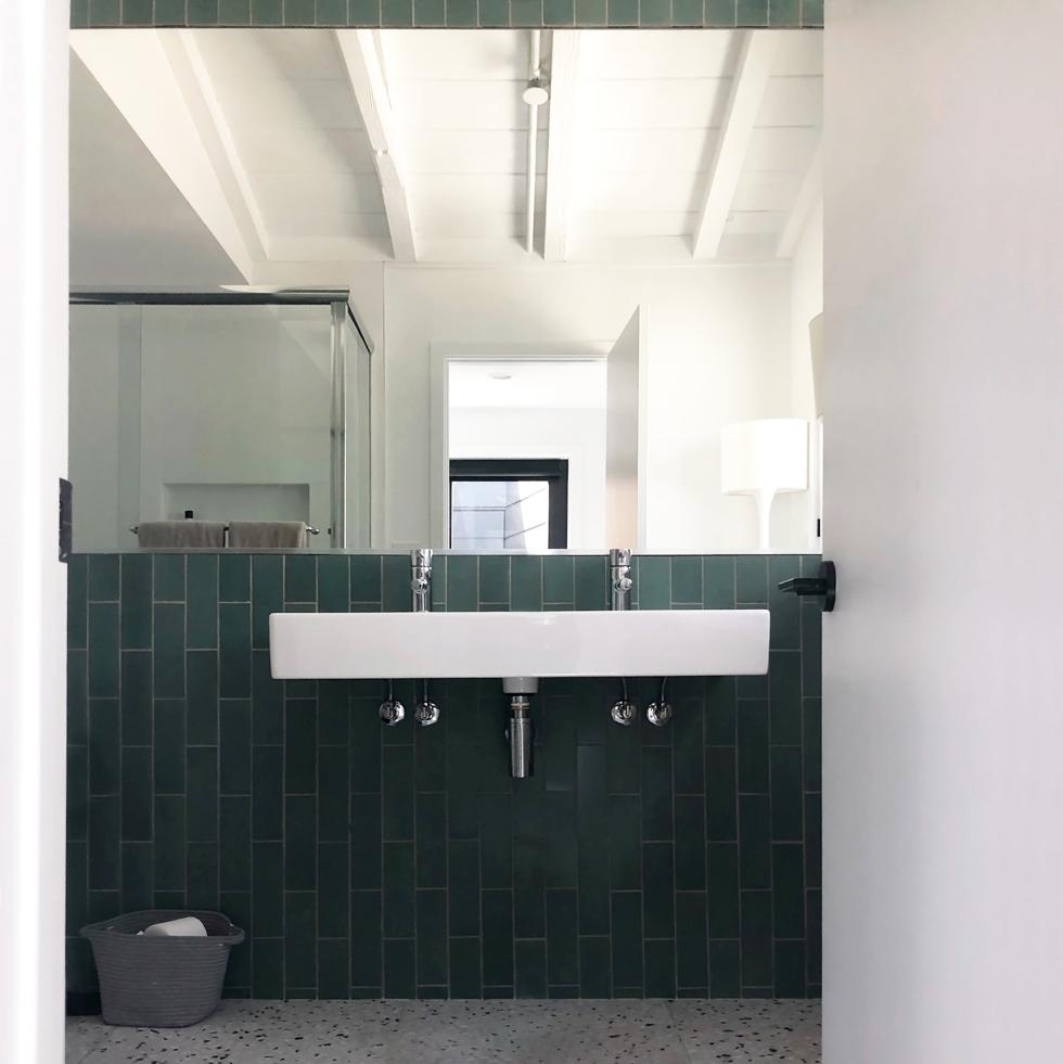 [ modern material snapshot: terrazzo + heath tile ]