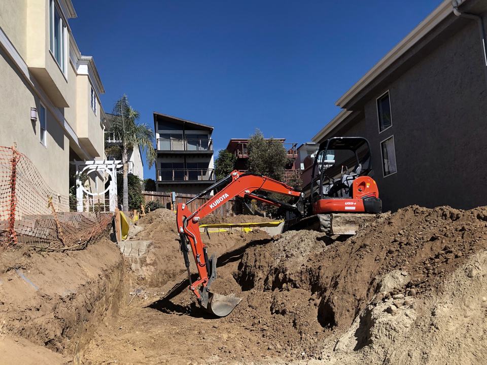 site work / under construction in laguna beach