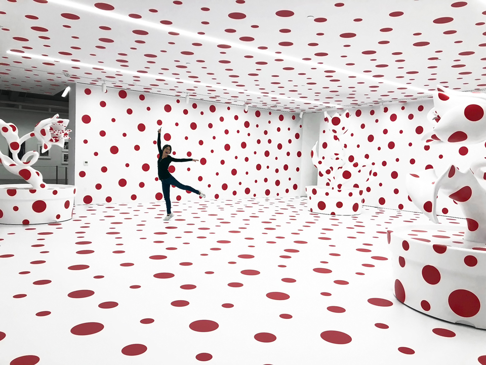 lauren + the polka dots [at the marciano art foundation]