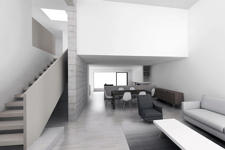 design rendering   /  view from new entry