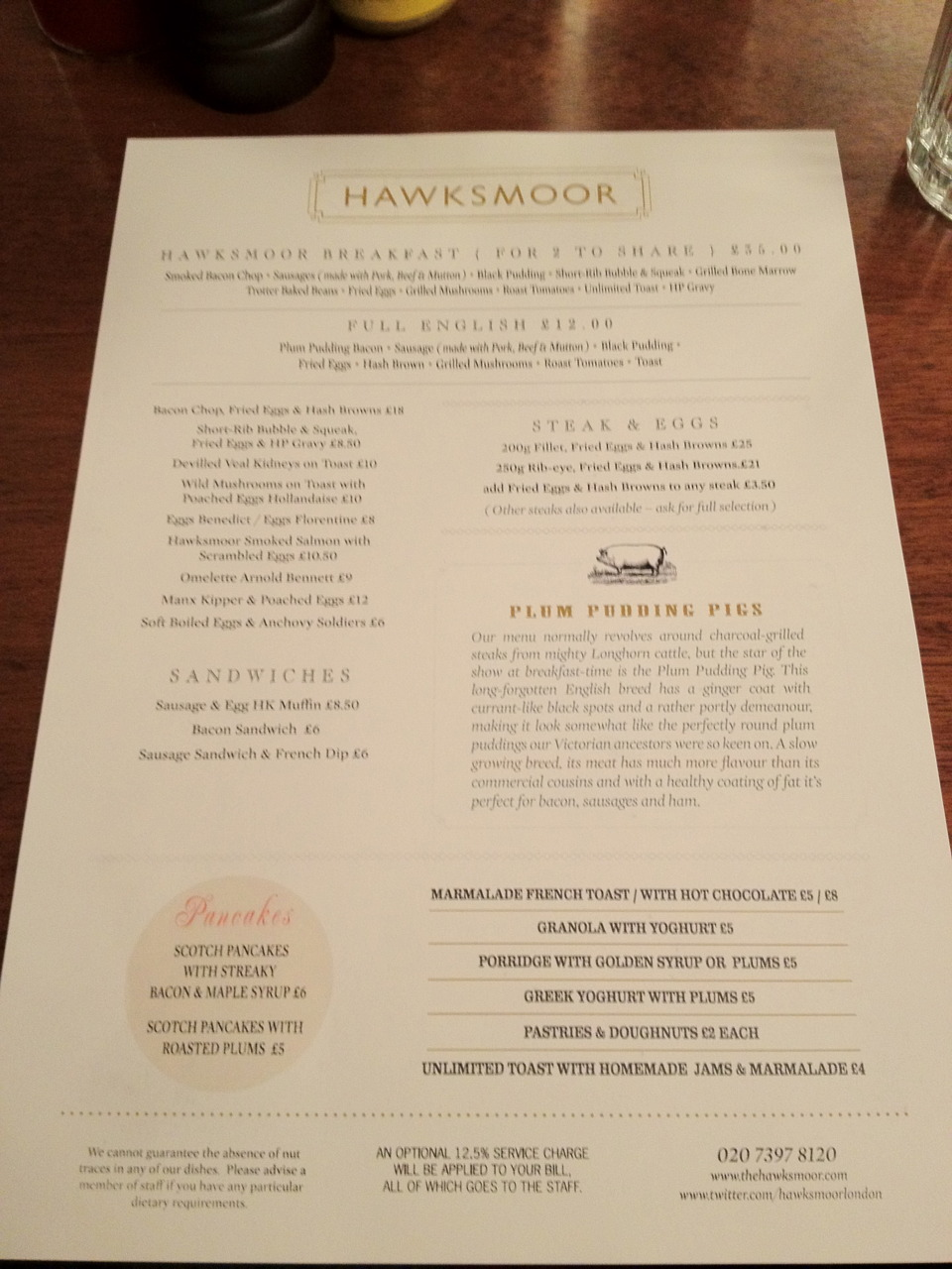 [HAWKSMOOR SPECIAL - PART 1] Breakfast at Hawksmoor Guildhall / London     The setup…     We ate most of this.