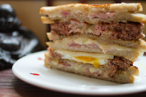 A Double Bacon Hamburger Fatty Melt (via  The Bait Layer )