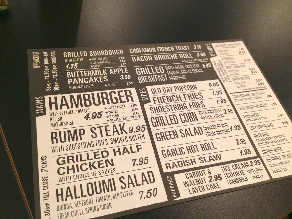 The Grillshack Menu