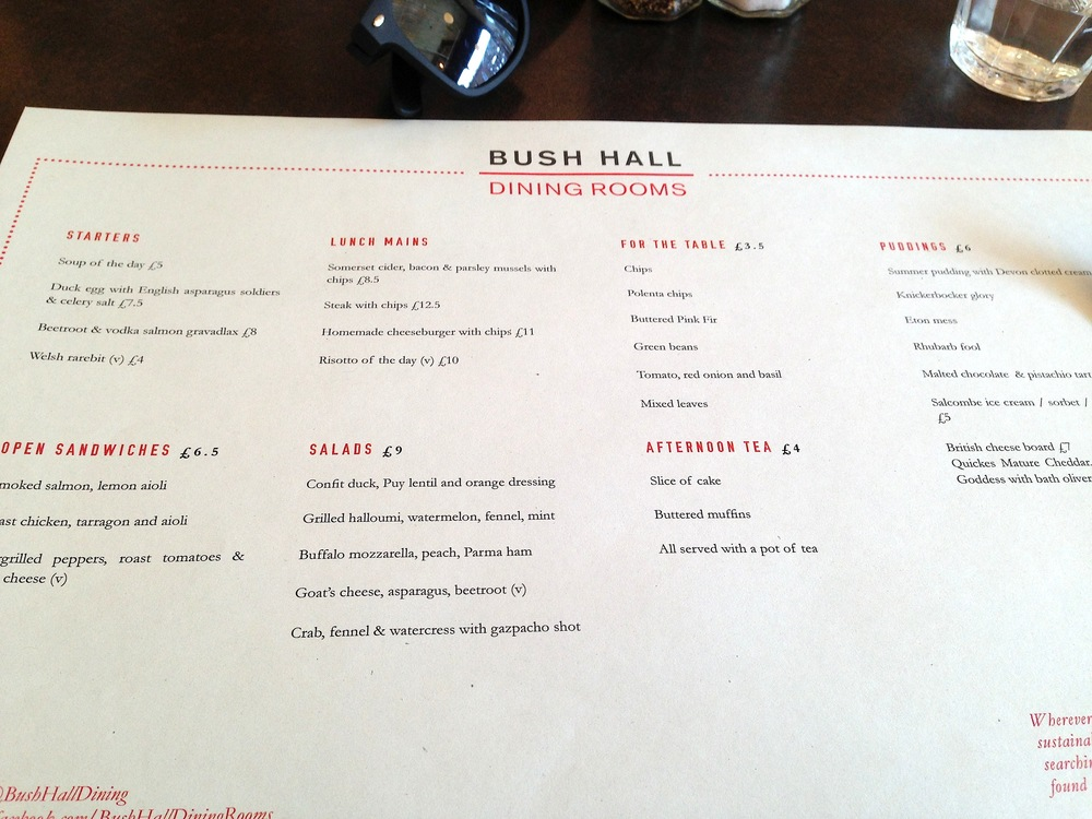 A tasteful, and keenly-priced, menu