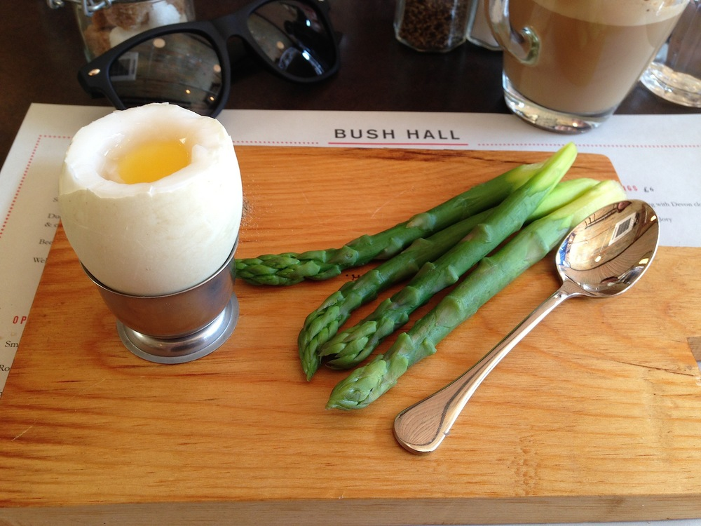 Duck Egg with Asparagus (£7.50)