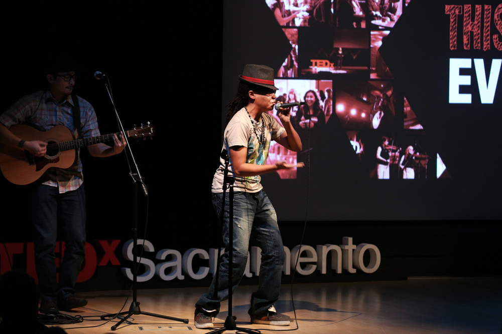 Artist Century Got Bars performs at the TEDxSacramento event on December 12, 2014. Photo by: Phil America.