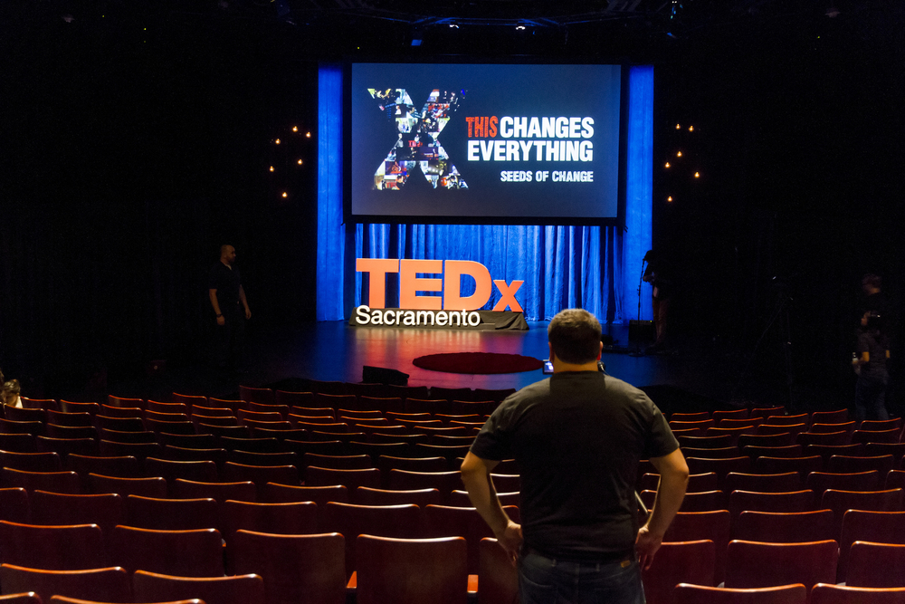 "Rich Beckermeyer at TEDxSacramento ""This Changes Everything: Seeds of Change"" in September 2014."