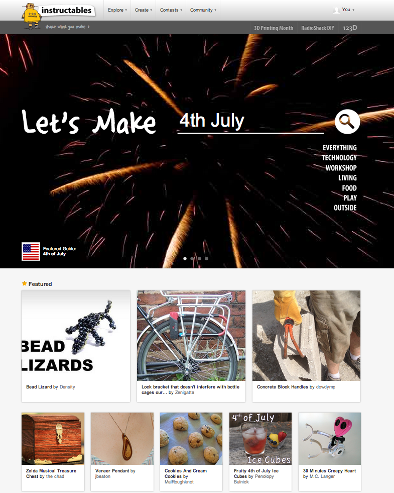 That's my project featured on the home page of Instructables