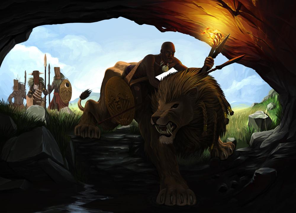Lion Rider WIP 2