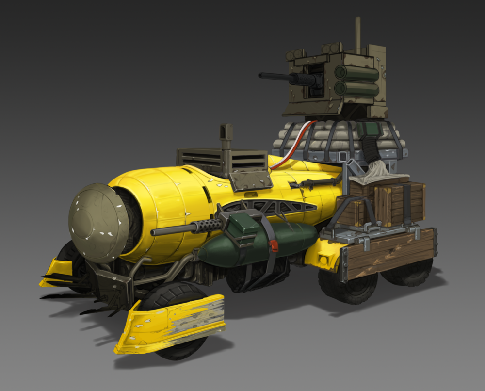 Wasteland Vehicle WIP 6ish