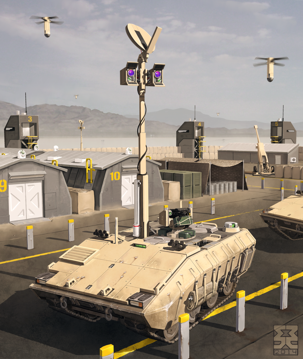 This recon vehicle was created to be as realistic as possible for a design 5 years in the future. In many ways it could be considered boring but authenticity and unique game mechanics were the focus for this piece.