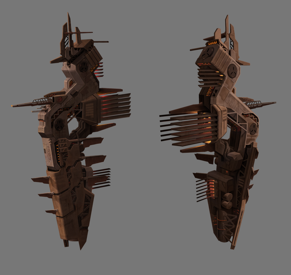 This was created for an EVE online contest a long time ago. It was done in the style of one of the game's 4 races.