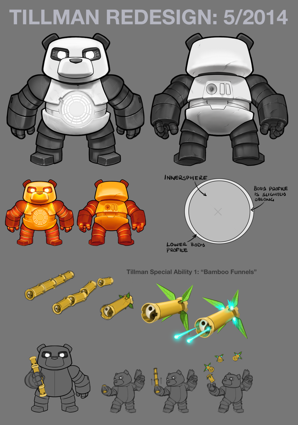 This character redesign was for an absurdly popular iOS series I worked on. For the upgraded engine we were migrating to new art was needed along with some basic special abilities.
