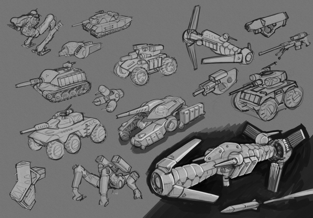 Early exploration thumbs - Found a ship I liked and kept pushing it.