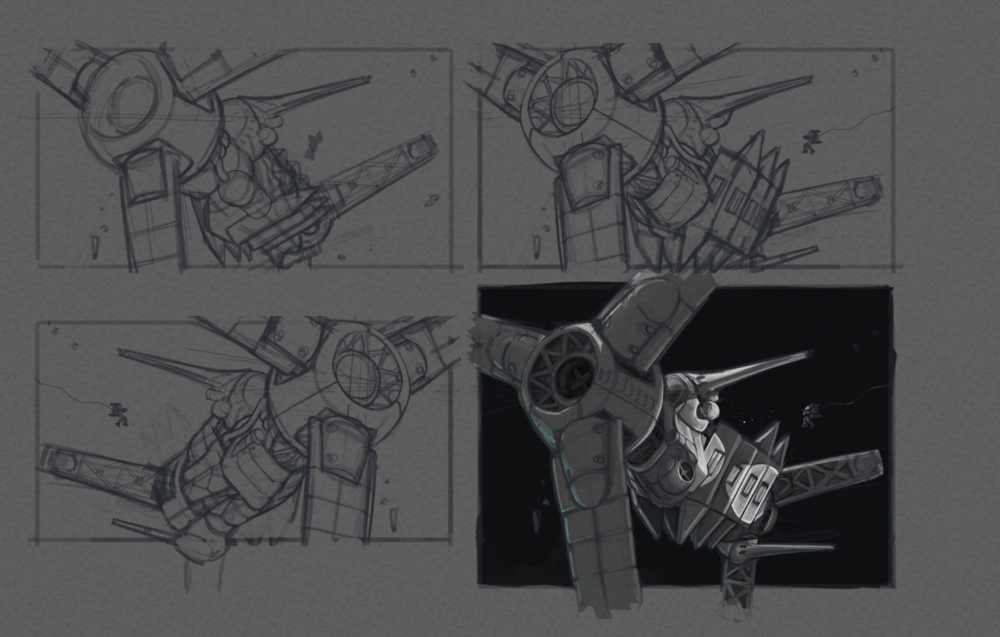 I was rushed on time but wanted to try out a few configurations and proportion checks before rendering began.
