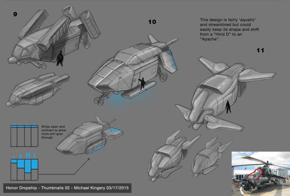 I was asked to raise the tech level and to incorporate more helicopter aspects. These were a 30 minute counter.