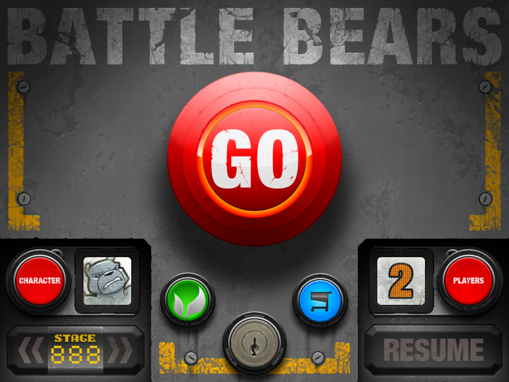 """Battle Bears GO"" was one of our first iPad only games and was put together in just 3 months. Much of the UI was first draft."