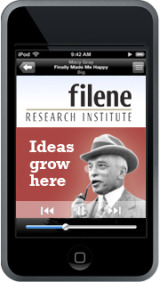 Filene Research Institute Ideas Grow Here Podcast   This is relatively new. There are four episodes so far and they are very good. Just by listening to these, I guarantee you will be smarter! And, if you leave a comment, you may even get socks! I did.