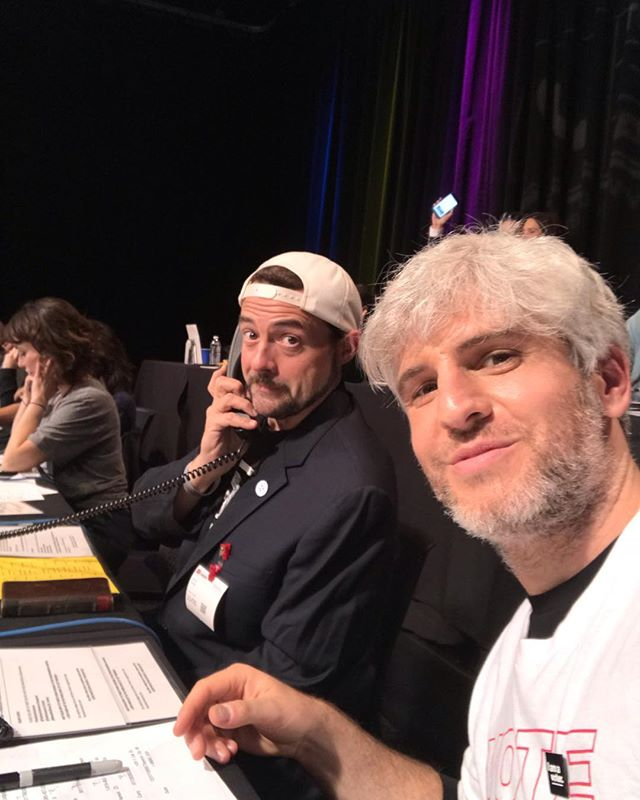 Manning the phones with the legendary @thatkevinsmith. His telethon game was strong 💪🏻 ☎️ #telethonforamerica