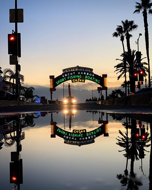 Pools of reflection are rare in LA.