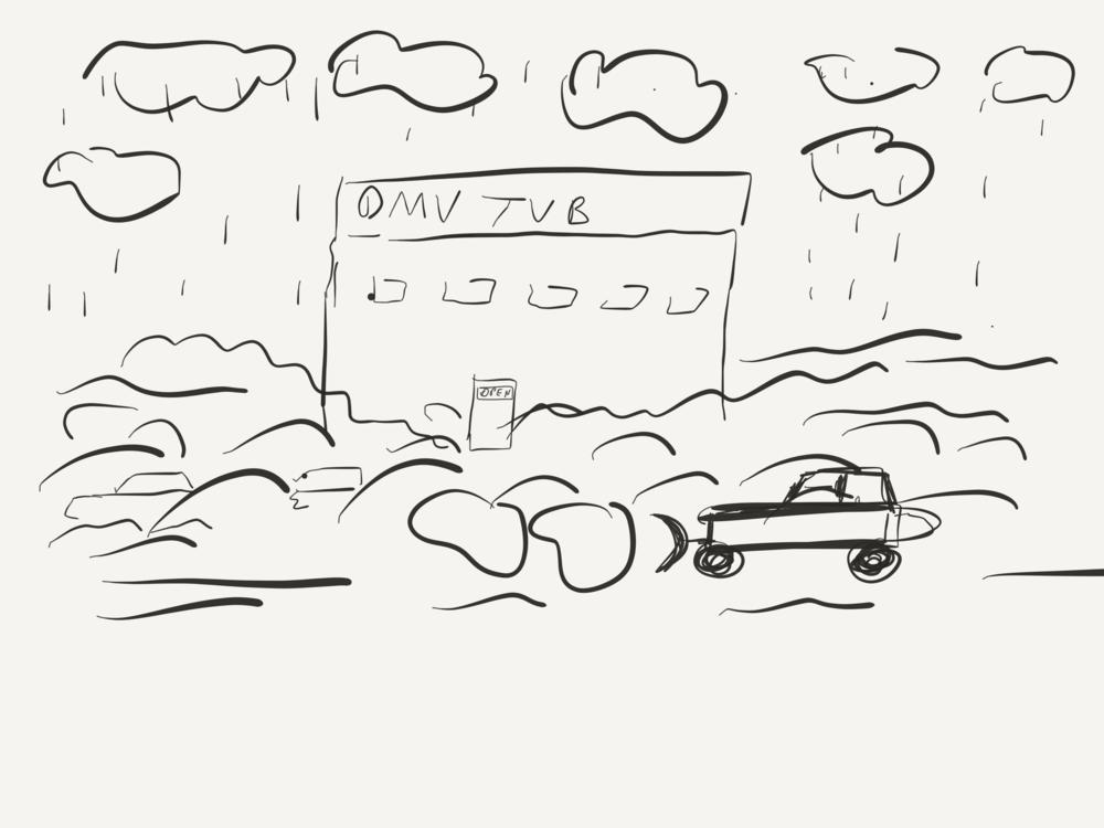 DMV buried under snow