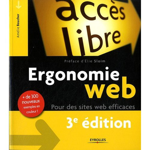 Livre ergonomie Web - Amélie Boucher