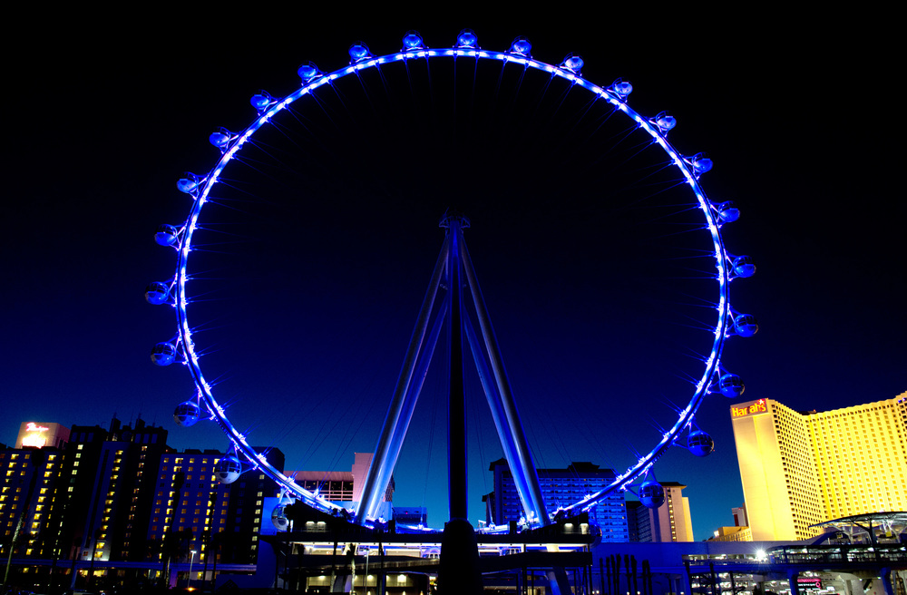 High Roller Entertainment Wheel, Caesar's Entertainment, Las Vegas