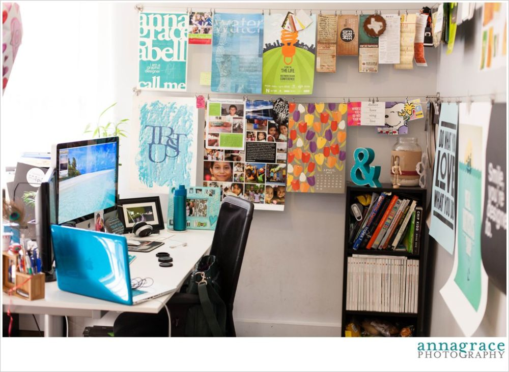 A little snapshot of my office space! There may be a poster featured in a teal tuesday sometime in the future.