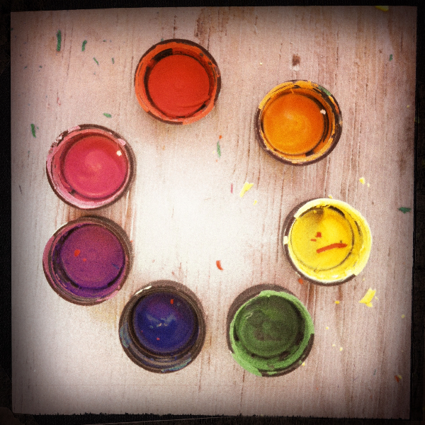 color wheel © kristin chapman 2013 (iphone, hipstamatic)
